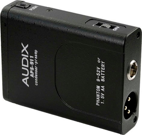 Audix APS-911 Phantom Power Adapter, Battery Operated APS-911