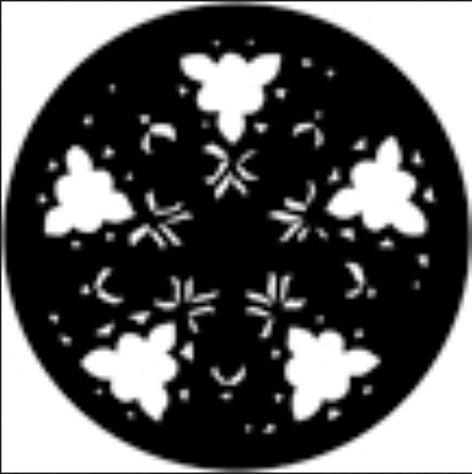 Rosco Laboratories 77885  Gobo Gothic Rose (Blue)  77885