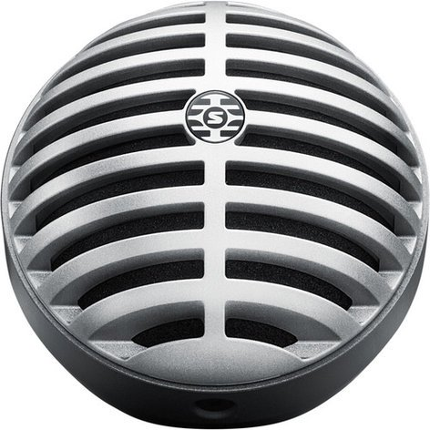 Shure MV5 Digital Condenser Microphone, Gray MV5/A-LTG