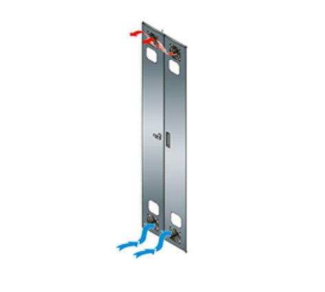Middle Atlantic Products KO-CRD-FAN  Split Rear Doors Fan Kit with 2 Fans and 2 Guards KO-CRD-FAN