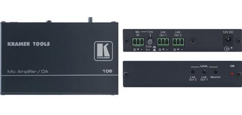 Kramer 106 1:2 Microphone to Line Distribution Amplifier 106-KRAMER