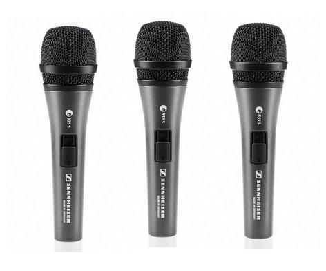 Sennheiser THREEPACK E 835-S Pack of (3) E835-S Microphones THREEPACK835S