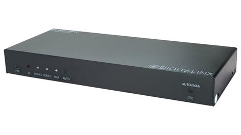 Liberty AV Solutions DL-AS31-2H1V  2 HDMI and 1 VGA Auto Switcher with Audio Input DL-AS31-2H1V