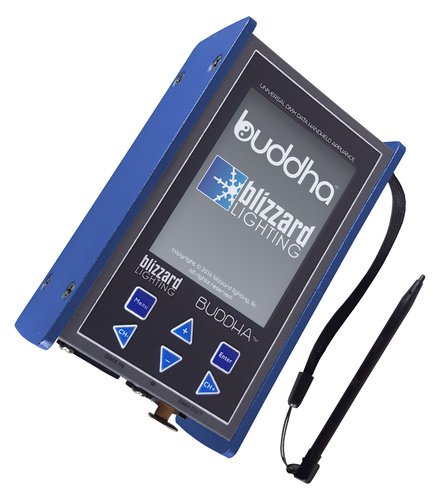 Blizzard Lighting BUDDHA Advanced DMX Test Tool with Color Touchscreen, Case and DMX Adapter BUDDHA