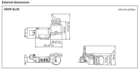 "Sony HDVF-EL30 0.7"" Full HD OLED Viewfinder with 3.5"" Display HDVF-EL30"