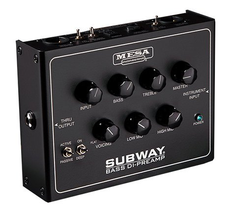 Mesa Boogie Ltd Subway® Bass DI-Preamp Bass Pedal/Preamp & DI Box SUBWAY-DI-PRE