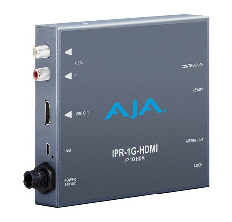 AJA Video Systems Inc IPR-1G-HDMI  JPEG 2000 IP Video & Audio HDMI Mini Converter IPR-1G-HDMI