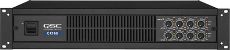 QSC CX168 8-Channel Powered Amplifier, 90W @ 8 ohms per channel, CX-168 CX168