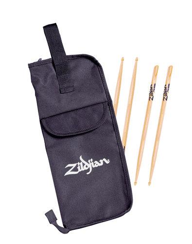 Zildjian SDSP241 2-Pack 5A Acorn Tip Hickory Drumsticks with Drumstick Bag SDSP241