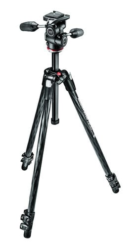 Manfrotto MK290XTC3-3WUS  290 XTRA Carbon Tripod Kit with 3-Way Head MK290XTC3-3WUS