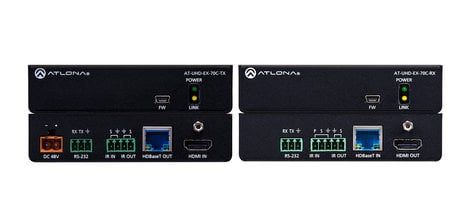 Atlona Technologies Altona Transmitter HDMI Over HDBaseT TX/RX with Control and PoE AT-UHD-EX-70C-KIT