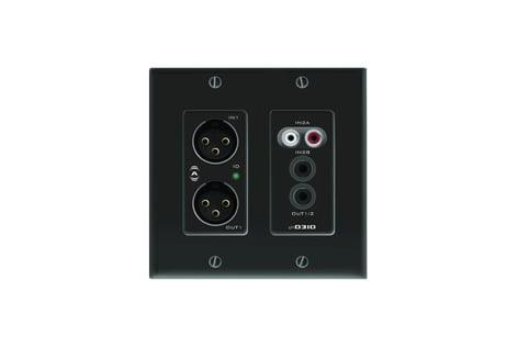 Attero Tech UND3IO-B-C Dante Wall Plate, Black UND3IO-B-C