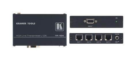 Kramer TP-104HD 1:4 Computer Graphics Video & HDTV Transmitter & Distribution Amplifier TP-104HD