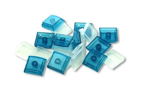 PI Engineering, Inc. XK-A-004-BL-R 10-Pack of Keycaps in Blue XK-A-004-BL-R