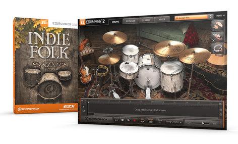 Toontrack Indie Folk EZX [DOWNLOAD] Sound Expansion for EZdrummer INDIE-FOLK