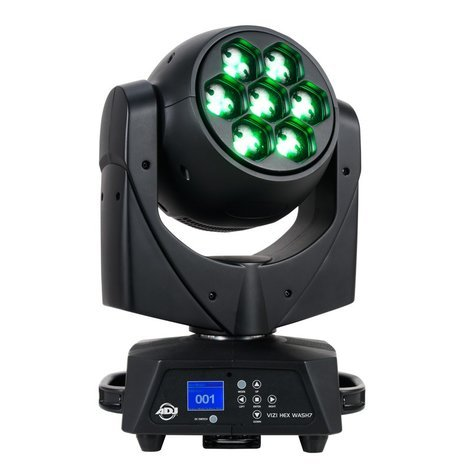 ADJ VIZI HEX WASH7 7x15W 6-IN-1 LED with Motorized Zoom and DMX VIZI-HEX-WASH7