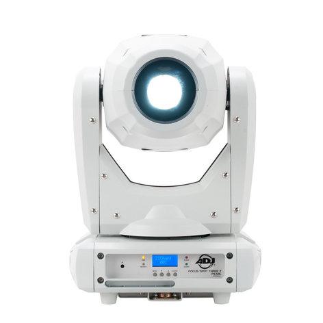 ADJ FOCUS SPOT THREE Z PEARL 100W LED Moving Head Fixture in White FOCUS-SPOT-THREE-Z-P