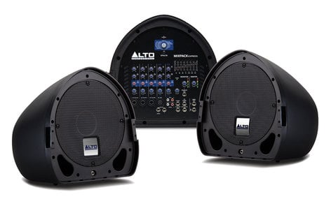 "Alto Professional MIXPACK Express [BLEMISHED ITEM] 350 Watt 2x10"" 6-Channel Powered PA System MIXPACK-EXPR-BLM-01"