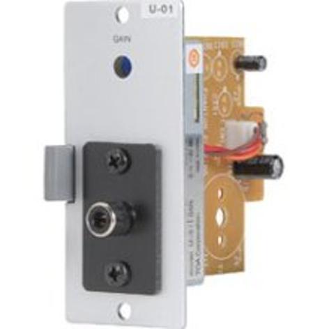 TOA U01R 00 Series Module with Female RCA Unbalanced Line Input U01R