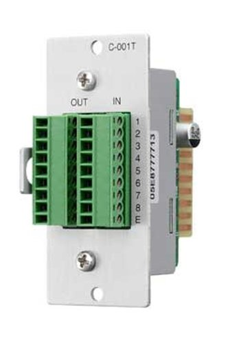 TOA C001T 8-Channel Input/Output Control Expansion Module for 9000 Series Amplifiers C001T