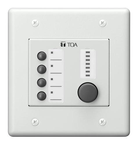 TOA ZM-9014 Remote Panel, 4 Button Volume Control ZM9014