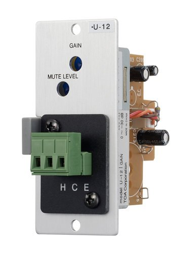 TOA U12ST Module, Line Input, Unbalanced, Variable Mute-Receive Depth, Removable Terminal Block U12ST