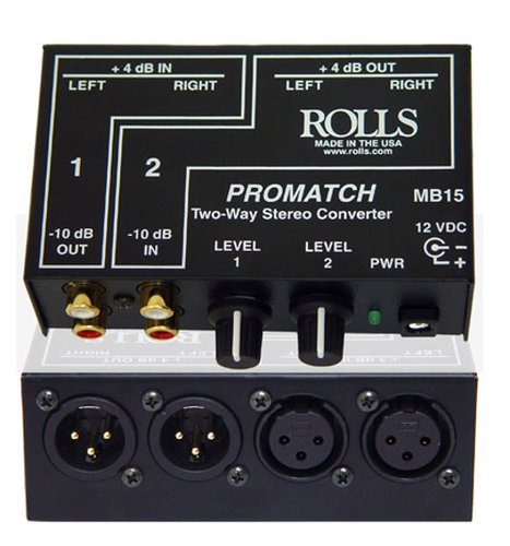 Rolls MB15 Dual Stereo Matchbox Converter MB15-B
