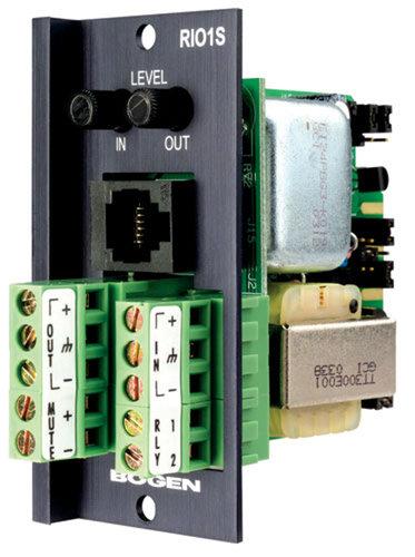 Bogen Communications RIO1S Relay Input/Output Module, Transformer Balanced RIO1S