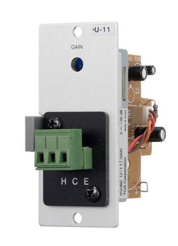 TOA U-11ST Unbalanced Line-input Module with Mute-Receive, Screw Terminal U11ST