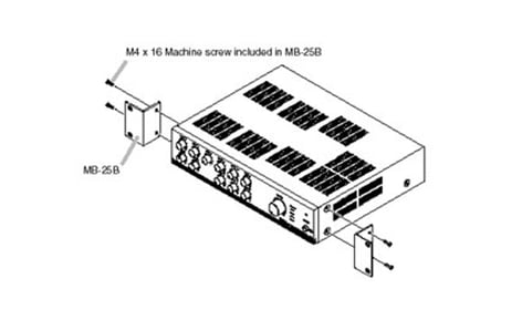 TOA MB-25B-BK Rack kit for BG Series, black, single mount MB25B-BK