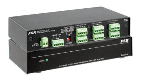 FSR, Inc SADA-6 1x6 Stereo or 1x12 Mono Audio Distribution Amplifier SADA-6