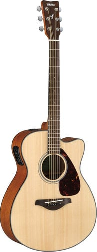 Yamaha FSX800C Acoustic-Electric Cutaway Guitar, Natural Finish FSX800C