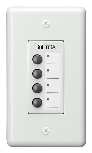 TOA ZM-9011 Remote Panel, 4 Buttons with LED ZM9011