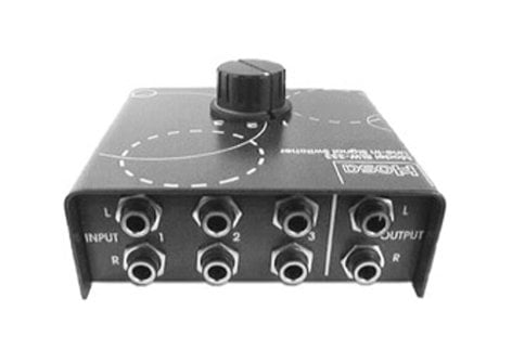 Hosa SLW-333 Passive Stereo Signal Selector SLW333