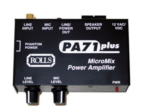 Rolls PA71 7-Watt Mono Power Amplifier, 1 Mic, 1 Line PA71-PLUS