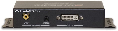 Atlona Technologies AT-HD610 DVI with Analog/Digital Audio to HDMI Converter and Embedder AT-HD610