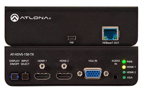 Atlona Technologies AT-HDVS-150-TX Three Input HDMI/VGA Switcher with HDBaseT Output AT-HDVS-150-TX