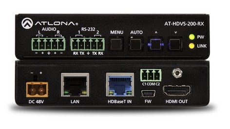 Atlona Technologies AT-HDVS-200-RX HDBaseT Scaler with HDMI and Analog Audio Outputs AT-HDVS-200-RX