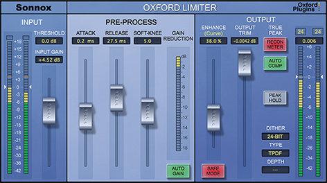 Sonnox OXFORD-LIMIT-V2-NAT Oxford Limiter v2 Native [DOWNLOAD] True Peak Limited Plugin for Mac and Win OXFORD-LIMIT-V2-NAT