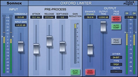 Sonnox Oxford Limiter v2 HDX [DOWNLOAD] True Peak Limited Plugin for Mac and Win OXFORD-LIMIT-V2-HD