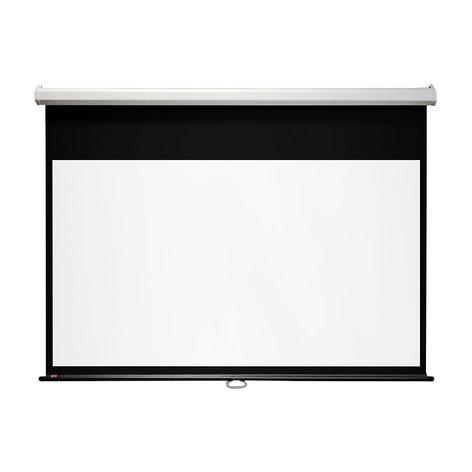 "Draper Shade and Screen 207167  109"" Luma Manual Projection Screen, 16:10, Matt White 207167"