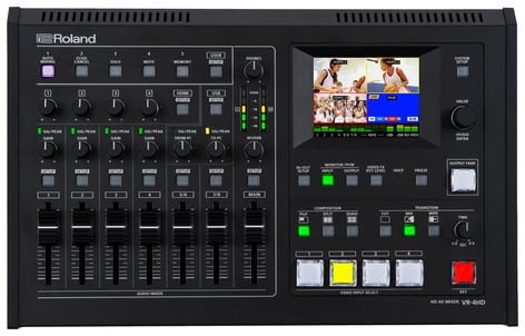 Roland System Group VR-4HD 6-Input, 4-Channel HD All In One AV Mixer with Streaming or Recording VR-4HD