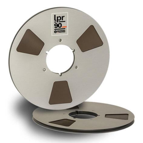 """RMGI LPR90-38520 1/4"""" x 3600 ft Semi-Professional Analog Audio Tape in a 10.5"""" NAB Metal Reel LPR90-38520"""