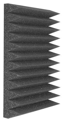 "Auralex WEDGIES-24-PACK 24 Foam,Wedgies, 1' x 1' x 2"", Charcoal Grey WEDGIES-24-PACK"