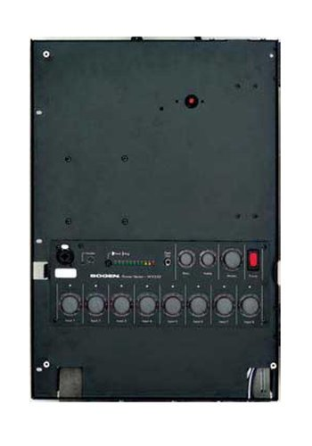Bogen Communications WV100 Mixer/Amp, Wall-Mount, 8 Module Bays, 100 Watts WV100