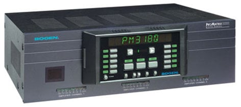 Bogen Communications PM3180 3 Channel (100W, 60W and 20W) Digitally Matrixed Amplifier PM3180