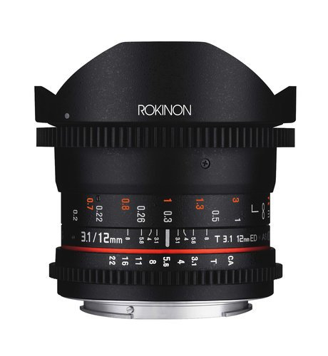 Rokinon 12mm T3.1 Rokinon 12mm T3.1 Full Frame Cine DS Fisheye Lens  DS12M
