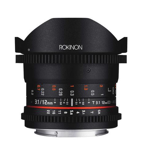 Rokinon 12mm T3.1 Rokinon 12mm T3.1 Full Frame Cine DS Fisheye Lens  DS12M
