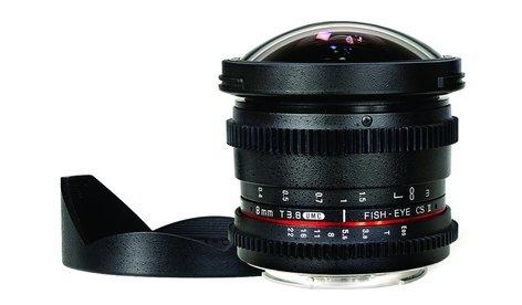 Rokinon 8mm T.38 Cine HD Fisheye Lens with Removable Hood RKHD8MV