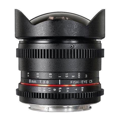 Rokinon 8mm T3.8 Cine Fisheye Lens RK8MV